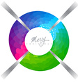colorful xmas design vector image