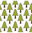 green pine tree background vector image