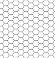 Hexagon background seamless comb vector image