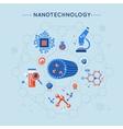 Nanotechnology Decorative Flat Icons Set vector image