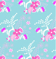 Purple floral pattern vector image