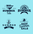 summer sale clearance badges some shopping vector image