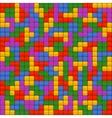 Tetris Bricks Seamless Background vector image