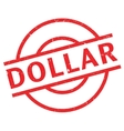 Dollar rubber stamp vector image vector image