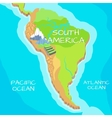 South America Map with Natural Attractions vector image