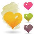 watercolor hearts set vector image