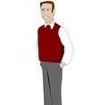 Young teacher wearing sweater vector image vector image
