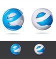 blue techno icon vector image vector image