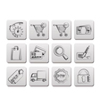 internet icons for online shop vector image vector image