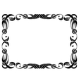 black ribbon frame isolated on white vector image