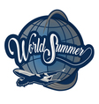 logo world summer vector image