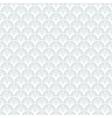 Art deco geometric pattern in silver white vector image