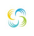circle spin colorful logo image vector image