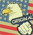 Eagle original america vector image