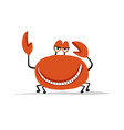 funny crab sketch for your design vector image