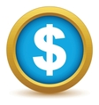 Gold dollar icon vector image