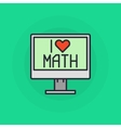 I Love mathematics symbol vector image