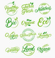 set of organic local fresh natural logos vector image