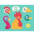 set of the birds farm vector image