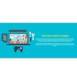 Testing video games vector image