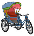 classic cycle rickshaw vector image