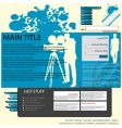 movie layout vector image