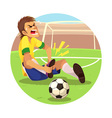 Injured Soccer Player vector image vector image