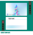 Modern christmas tree background triangle template vector image