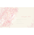 elegant vintage floral frame card vector image