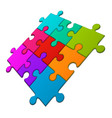 puzzle in perspective vector image
