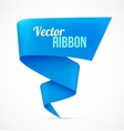 Blue ribbon banner vector image