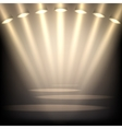 Empty stage background vector image