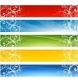 abstract website floral banners vector image