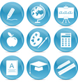 education web icons vector image