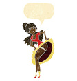 cartoon flamenco dancer with speech bubble vector image