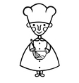 funny cook cartoon vector image