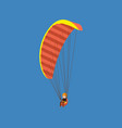 man paragliding on a parachute descending vector image
