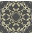 Mandala Yoga Print on brown background vector image