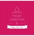 Merry christmass card greeting decor xmas vector image