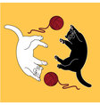 Playing cats vector image