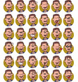 set of businessman with mustache emojis vector image