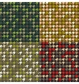 Set of houndstooth camouflage patterns vector image