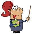 Hispanic Cartoon Teacher Woman vector image