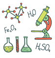 Chemistry and science icons vector image