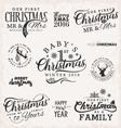 Family Baby Mr and Mrs Christmas Design Elements vector image