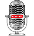 Microphone On The Air vector image vector image