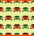 seamless pattern luxury car transportation vector image