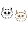 Owl heads vector image