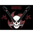 Rock N Roll Skull vector image