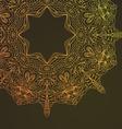 Circle lace hand-drawn ornament card Ornamental vector image